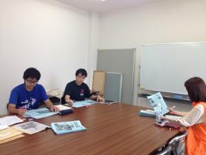 左より、菱井、鈴木(環境保全課)、藤井(FMちゃお)