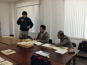左より、岡見(事務局)、鈴木(FMちゃお)、東郷(広報委員長)