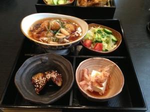 野菜あんかけ天ぷら定食