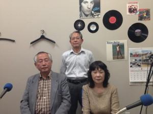 左より 橋本代表、東郷広報委員長、奥本広報委員